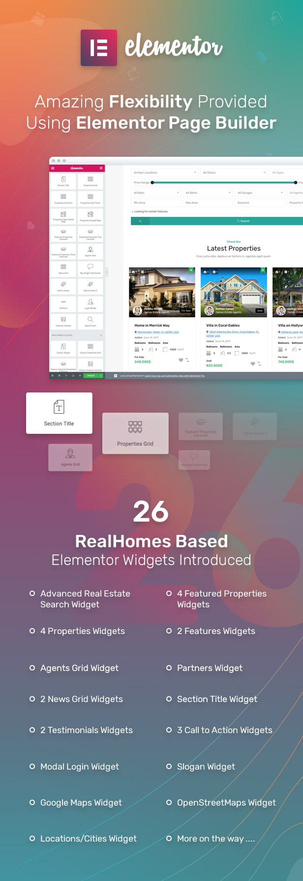 26 Elementor Widgets for RealHomes