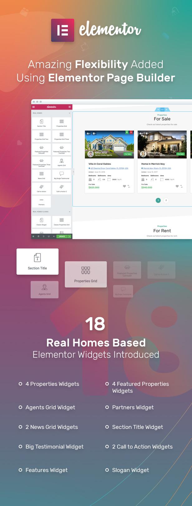 Elementor Page Builder Support
