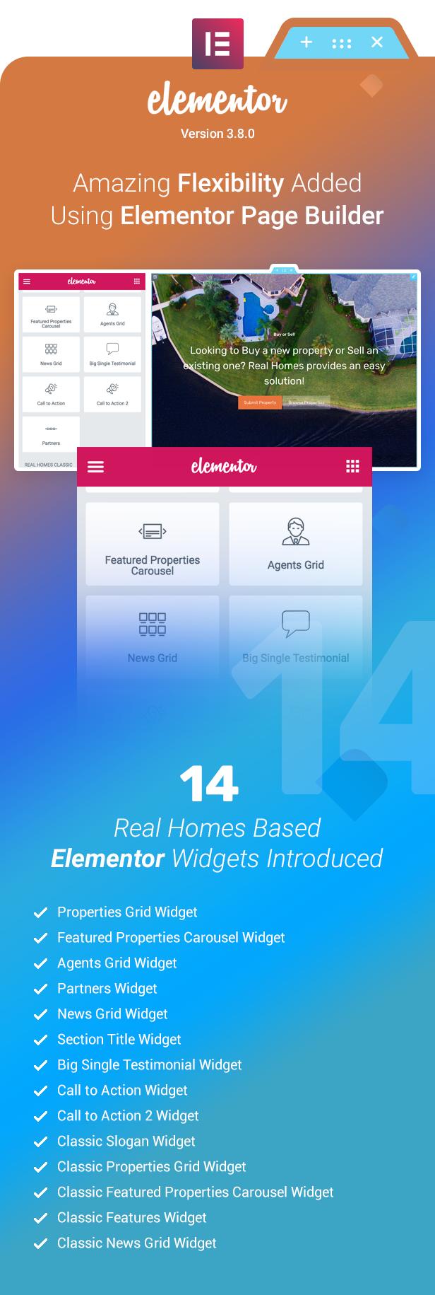 Amazing flexibility added using Elementor Page Builder