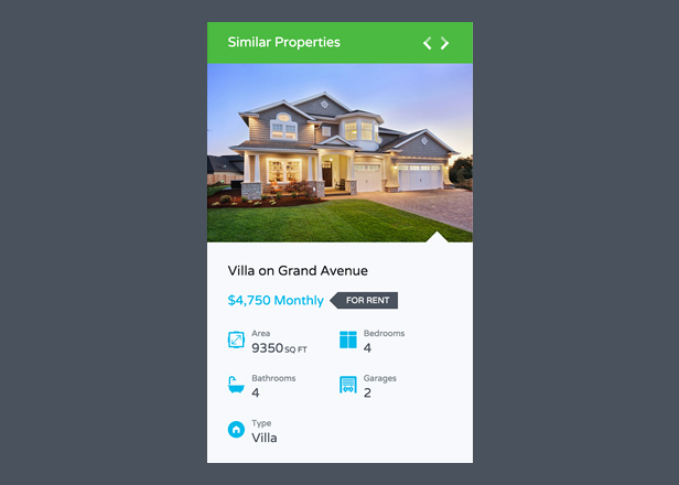 Similar Properties on Property Detail Page
